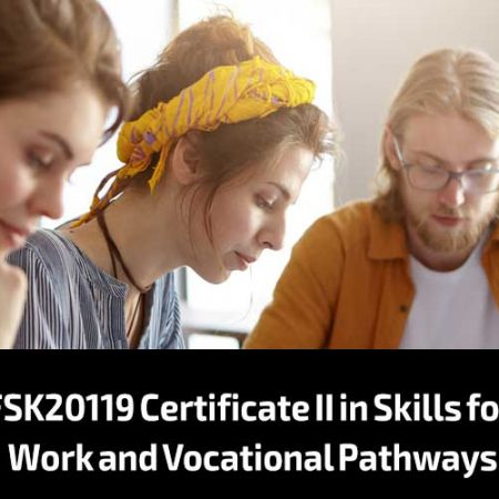 FSK20119 Certificate II in Skills for Work and Vocational Pathways